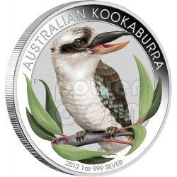 KOOKABURRA AUSTRALIANO Esposizione Internazionale Beijing Outback Moneta Argento Proof 1 Oz 1$ Australia 2012