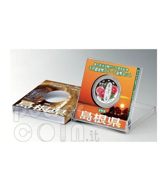 SHIMANE 47 Prefectures (3) Plata Proof Moneda 1000 Yen Japan 2008
