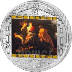 FLIGHT INTO EGYPT Rubens 3 Oz Moneda Plata 20$ Cook Islands 2012