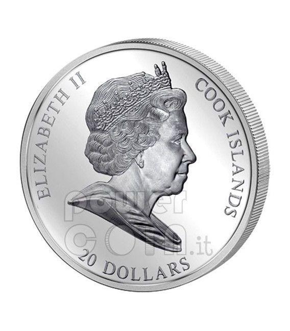 FLIGHT INTO EGYPT Rubens 3 Oz Silver Coin 20$ Cook Islands 2012