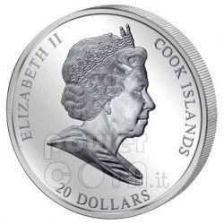 FLIGHT INTO EGYPT Rubens 3 Oz Серебро Монета 20$ Острова Кука 2012