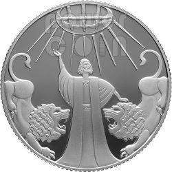 DANIEL IN THE LIONS DEN Серебро Proof Монета 2 Нис Израиль  2012