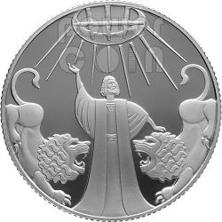 DANIEL IN THE LIONS DEN Silber Proof Münze 2 NIS Israel 2012
