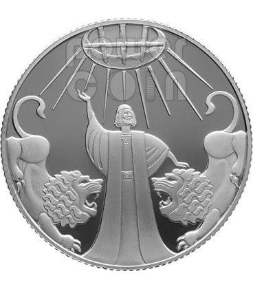 DANIELE NELLA FOSSA DEI LEONI Moneta Argento Proof 2 NIS Israele 2012