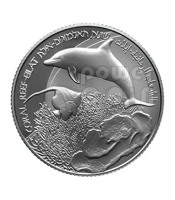 GULF EILAT Aqaba Coral Reef Views Of Israel Silver Proof Coin 2 NIS Israel 2012