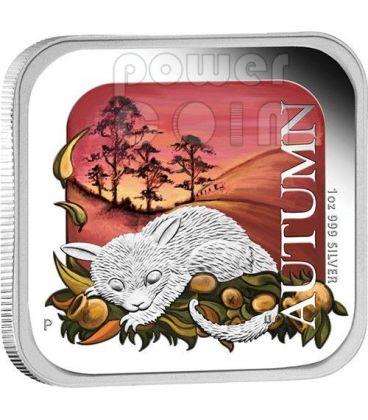 AUTUNNO Autumn Australian Seasons Moneta Argento 1$ Australia 2013