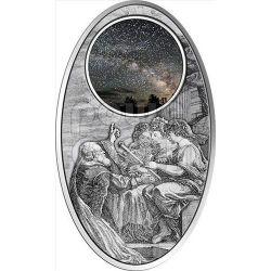 APOCALYPSE IV UNIVERSE Milky Way Maya Calendar Prophecy Silber Münze 10$ Fiji 2012