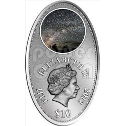 APOCALISSE IV UNIVERSO Via Lattea Profezia Calendario Maya Apocalypse Moneta Argento 10$ Fiji 2012