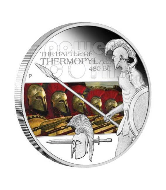 THERMOPYLAE Battle 480 BC 300 Silber Münze 1$ Tuvalu 2009