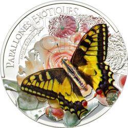 BUTTERFLY 3D Exotic Butterflies Silber Münze 5D Andorra 2013