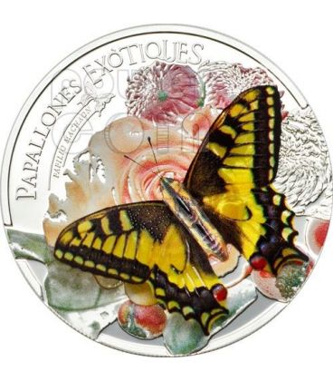 BUTTERFLY 3D Exotic Butterflies Silver Coin 5D Andorra 2013