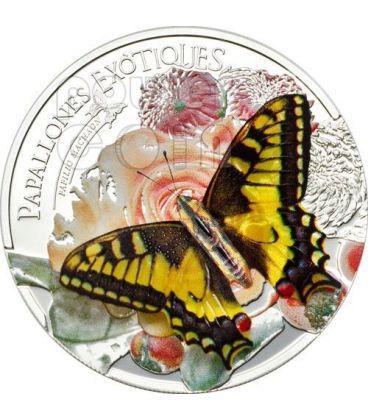 FARFALLA 3D Butterfly Farfalle Esotiche Moneta Argento 5D Andorra 2013