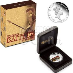 THERMOPYLAE Battle 480 BC 300 Серебро Монета 1$ Тувалу 2009