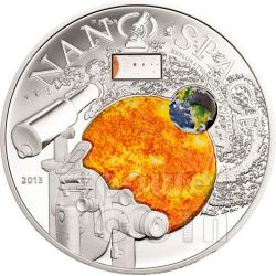 NANO SPACE Exploration of the Universe Moneda Plata 10$ Cook Islands 2013