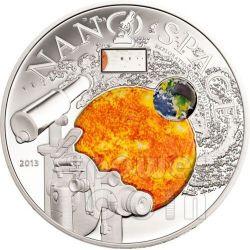 NANO SPACE Exploration of the Universe Серебро Монета 10$ Острова Кука 2013