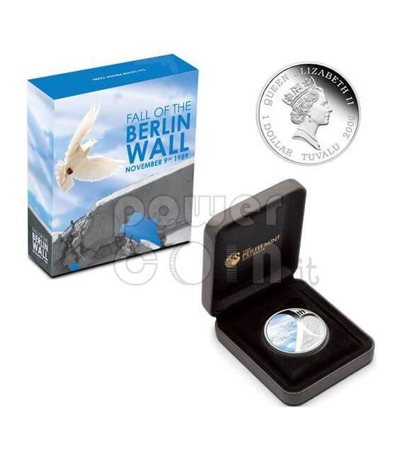 MURO DI BERLINO 20 Anniversario Caduta Moneta Argento 1$ Tuvalu 2009