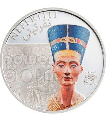 NEFERTITI Regina Storia Egitto Moneta 1$ Cook Islands 2013