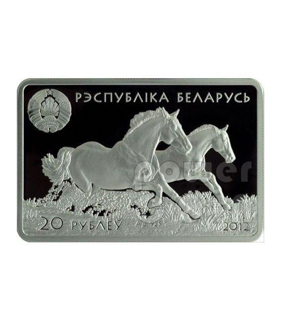 DON HORSE Cavalli Horses Russia Moneta Argento Bielorussia 2012