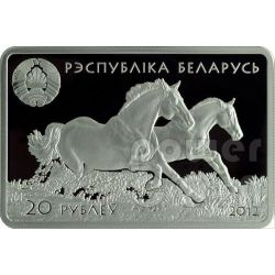 DON HORSE Horses Breeds Russian Silber Münze Belarus 2012