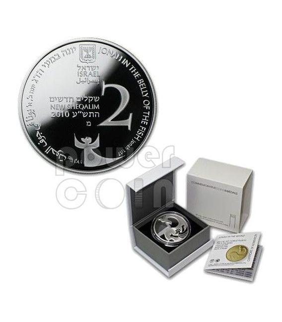 GIONA NELLA BALENA Coin Of The Year 2012 Arte Biblica Moneta Argento 2 Nis Israele 2010