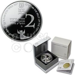 JONAH IN THE WHALE Coin Of The Year 2012 Biblical Art Silver Proof Coin 2 Nis Israel 2010