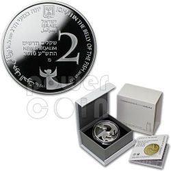 JONAH IN THE WHALE Монета Of The Year 2012 Biblical Art Серебро Proof Монета 2 Nis Израиль  2010