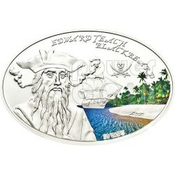 BLACKBEARD Edward Teach Famous Pirates Silber Münze 50 Vatu Vanuatu 2012