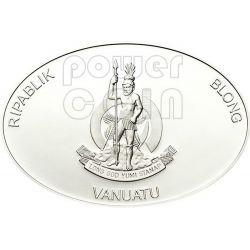 BLACKBEARD Edward Teach Famous Pirates Moneda Plata 50 Vatu Vanuatu 2012