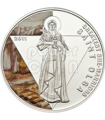SANTA OLGA DA KIEV Grandi Guerriere Moneta Argento 500 Franchi Togo 2011