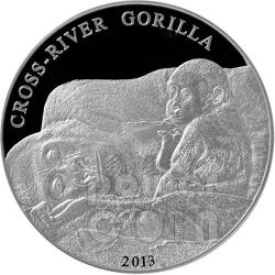 GORILLA DEL CROSS RIVER Moneta Argento 1 Oz 1000 Franchi Camerun 2013