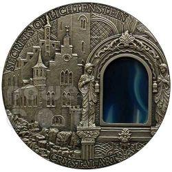 SECRETS OF LICHTENSTEIN Crystal Art Castle Schloss 2 Oz Silver Coin 2$ Niue 2012