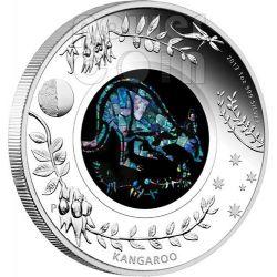 CANGURO OPAL SERIE Kangaroo Opale Moneta Argento 1$ Australia 2013
