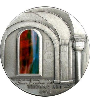 TIFFANY ART ARCHITETTURA ROMANICA Romanesque Moneta Argento 2 Oz 10$ Liberia 2005