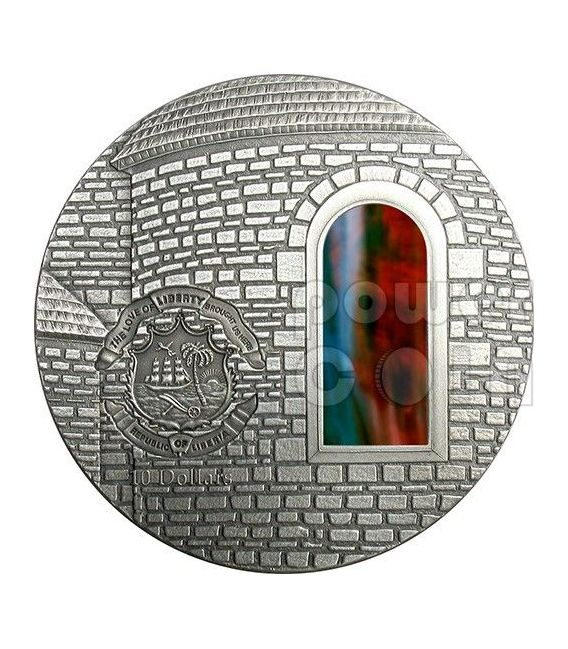 TIFFANY ART ROMANESQUE 2 Oz Silver Coin 10$ Liberia 2005