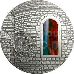 TIFFANY ART ROMANESQUE 2 Oz Серебро Монета 10$ Либерия 2005