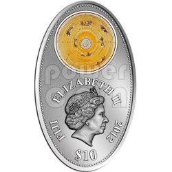 APOCALYPSE III ALMAGEST Ptolemy Astronomy Maya Calendar Prophecy Silver Coin 10$ Fiji 2012