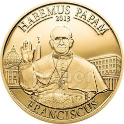HABEMUS PAPAM Pope Francis Jorge Bergoglio Coin 1$ Cook Islands 2013