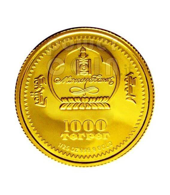FREDERIC CHOPIN 2 Moneda Oro Plata Set Mongolia 2008