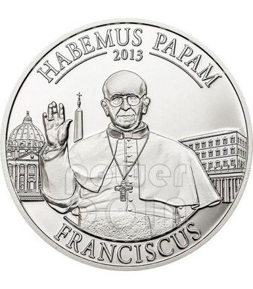 HABEMUS PAPAM Papa Francesco Jorge Bergoglio Moneta Argento 5$ Cook Islands 2013