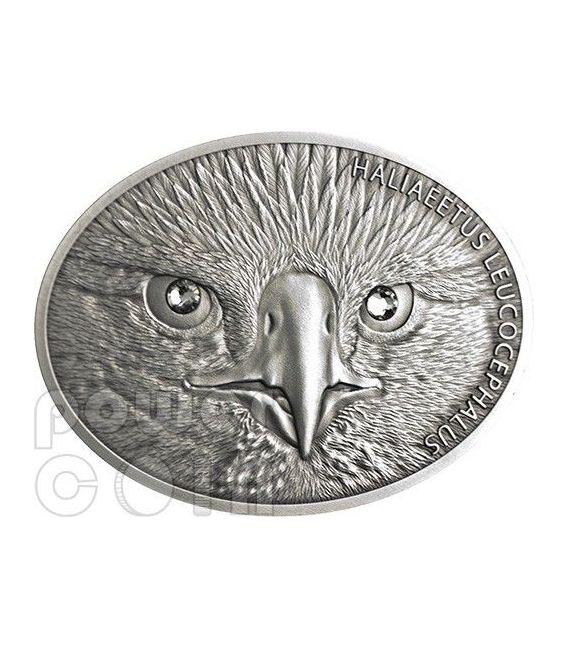 BALD EAGLE Fascinating Wildlife Silver Coin 10$ Fiji 2013