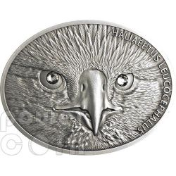 AQUILA TESTABIANCA Bald Eagle Fascinating Wildlife Moneta Argento 10$ Fiji 2013