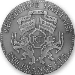 BISON EUROPE Серебро Монета Swarovski 2 Oz 1500 Франков Того 2012