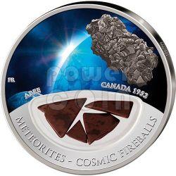 METEORITE ABEE Cosmic Fireballs Moneta Argento 10$ Fiji 2012