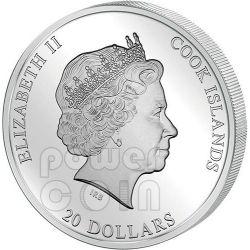 VIRGIN OF VLADIMIR Theotokos Серебро Золото Монета 20$ Острова Кука 2013