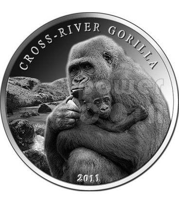 CROSS RIVER GORILLA 1 Oz Silver Coin 1000 Francs Cameroon 2011