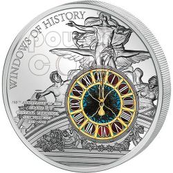 GRAND CENTRAL TERMINAL Windows Of History 100 Anniversario Moneta Argento 10$ Cook Islands 2013