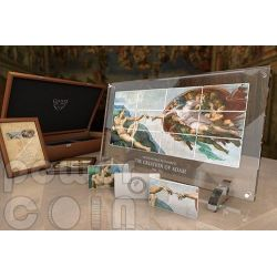 CREATION OF ADAM Michelangelo Sistine Chapel Giants of Art 12 Silver Coin Set 5$ Niue 2013