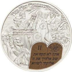TEN COMMANDMENTS (2) Second Commandment Silver Coin 2$ Palau 2013