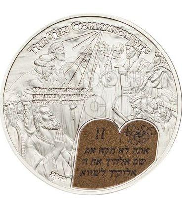 DIECI COMANDAMENTI (2) Secondo Comandamento Moneta Argento 2$ Palau 2013