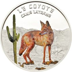 AMERICAN COYOTE Predator Hunters Silver Coin 1000 Francs Niger 2013